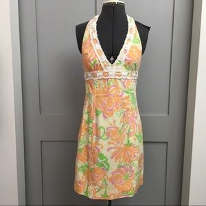 Lilly Pulitzer Beaded Halter Dress
